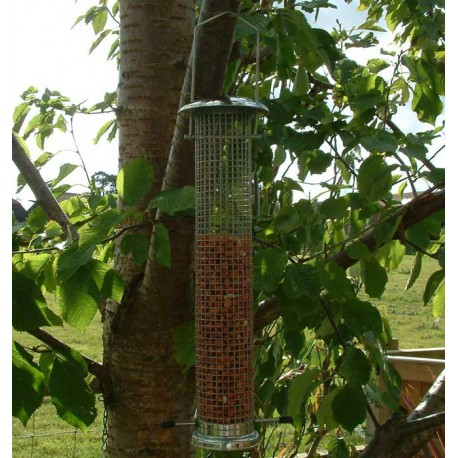 Nut Feeder Large Silver